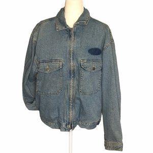 Vintage 90's GAP Jean Jacket Zip Up Chest Pockets